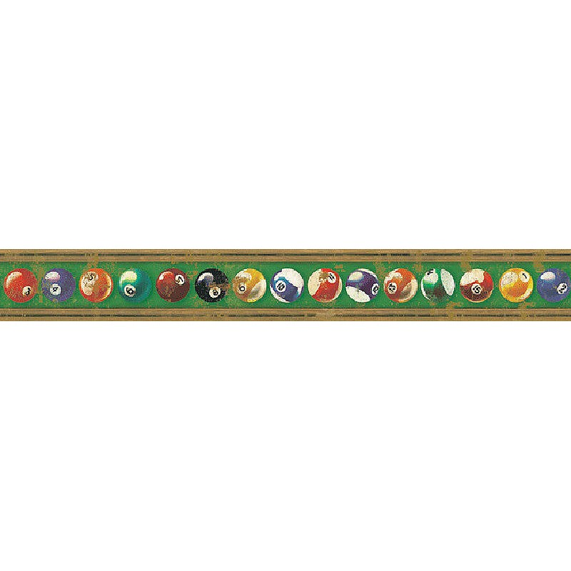 Wallpaper Border Game Room Pool Balls Border 800x800