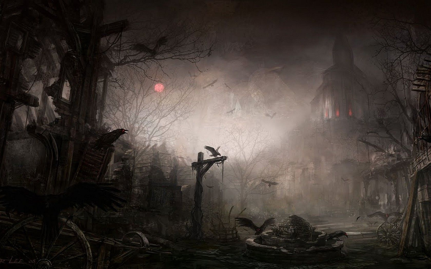 Gothic Dark Art Fantasy Cities picture nr 55916 1680x1050