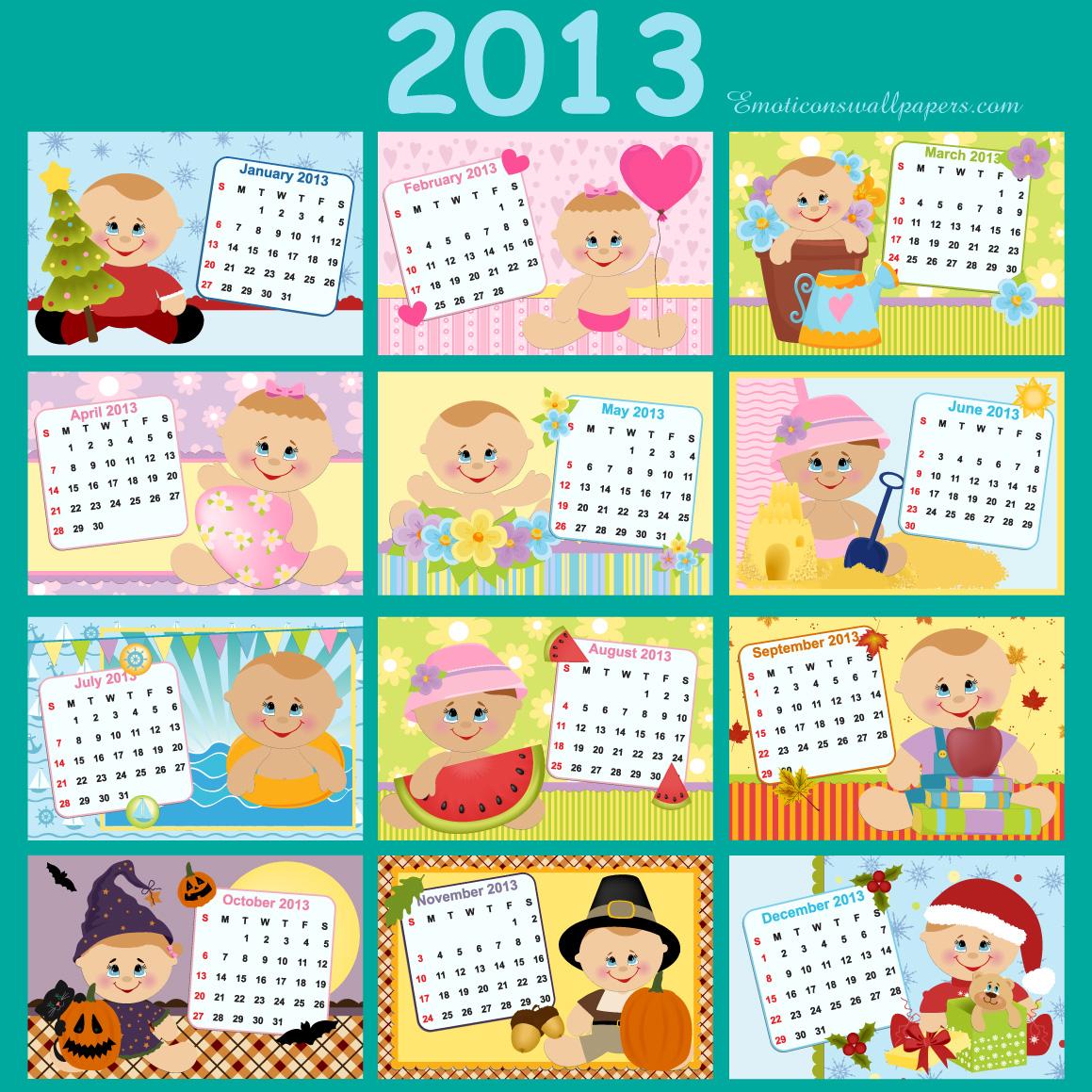 Calendar 2013 Wallpapers 1 Wallpapers Desktop Wallpapers 1159x1159