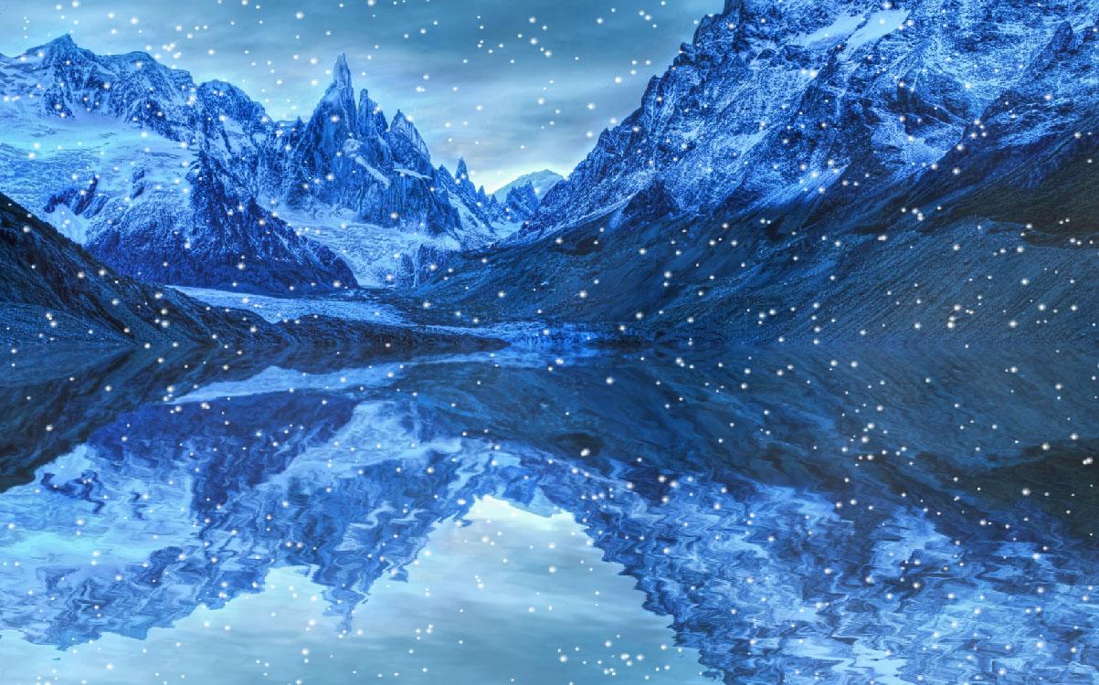 animated christmas snow wallpaper