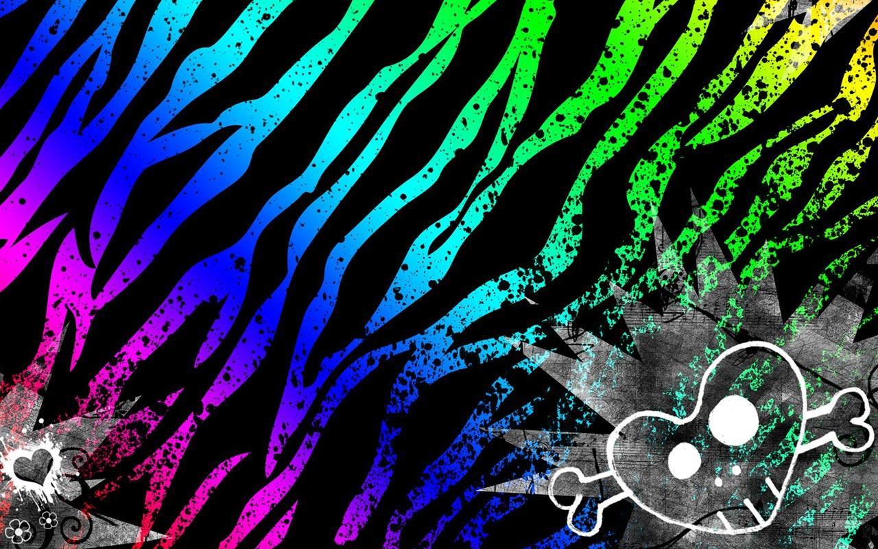 Neon Zebra Backgrounds For Desktop Images Pictures   Becuo 1280x800