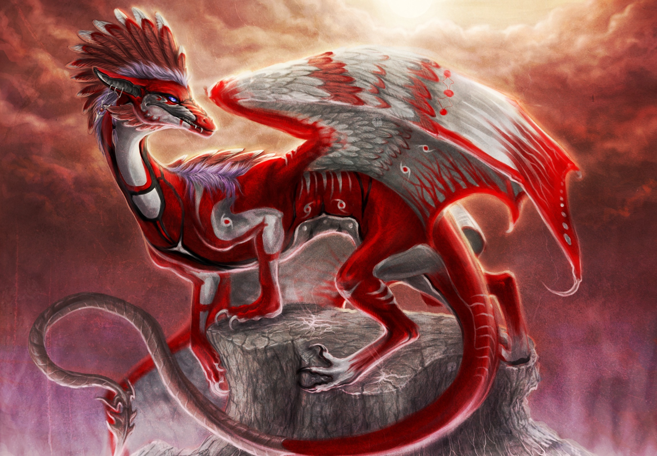 Black And Red Asian Dragon Wallpaper Pictures to Pin on ...