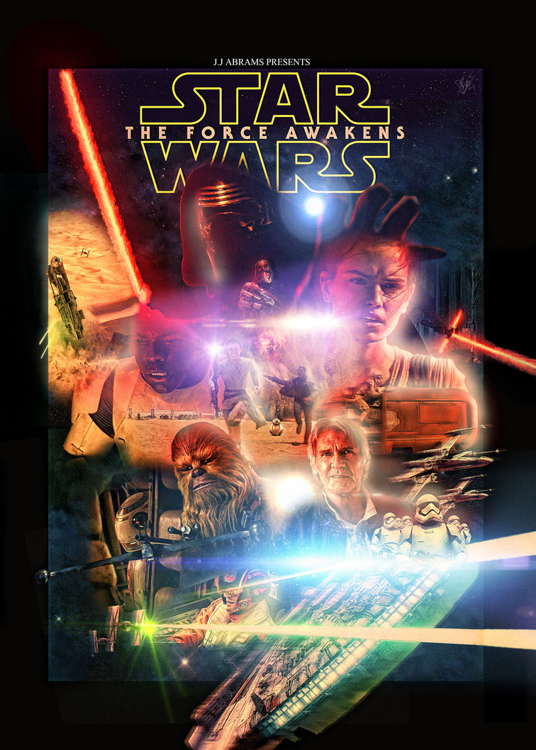 Star Wars The Force Awakens Poster by cinefilomania 756x1058