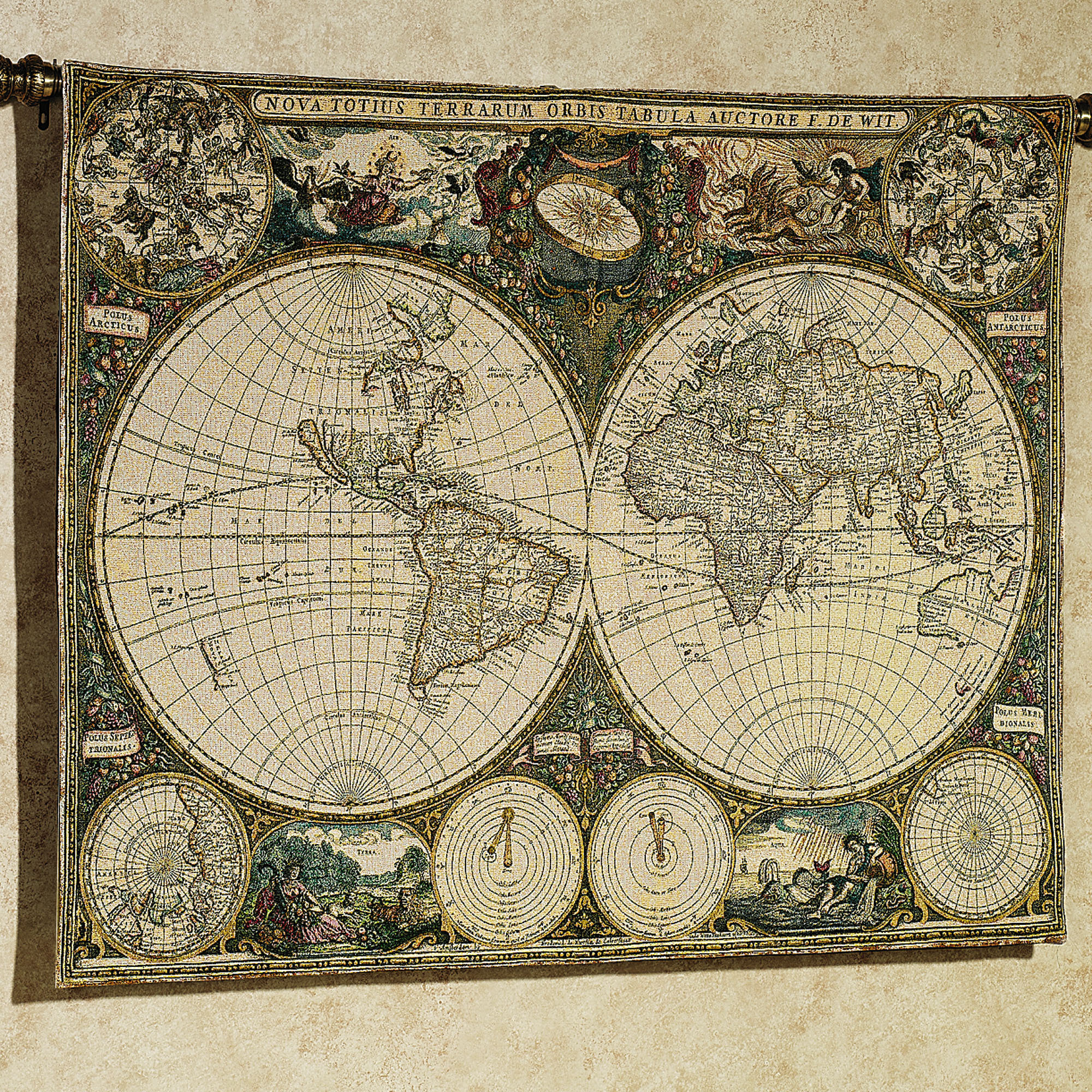 Old world map wallpaper border wallpapersafari old world map wallpaper border old world map wall tapestry 2000x2000 gumiabroncs Image collections