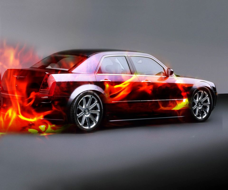 Cool Fire Car Android Wallpapers 960x800 Cell Phone Backgrounds 960x800