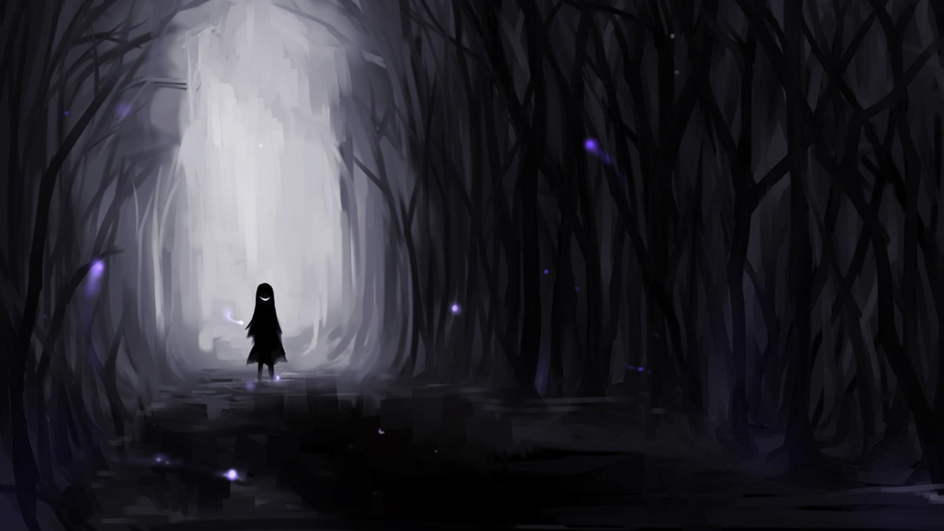 Dark Anime Forest wallpaper   766201 1920x1080