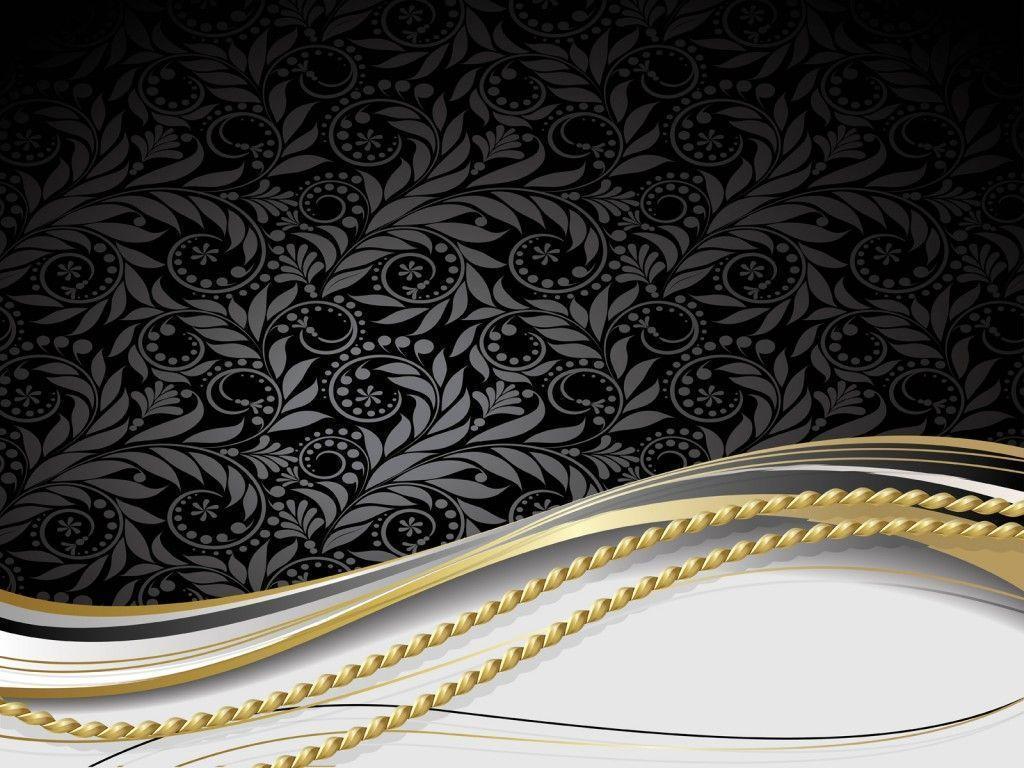 Black White Gold Wallpaper 1024x768 px 013 Mb   Picseriocom 1024x768