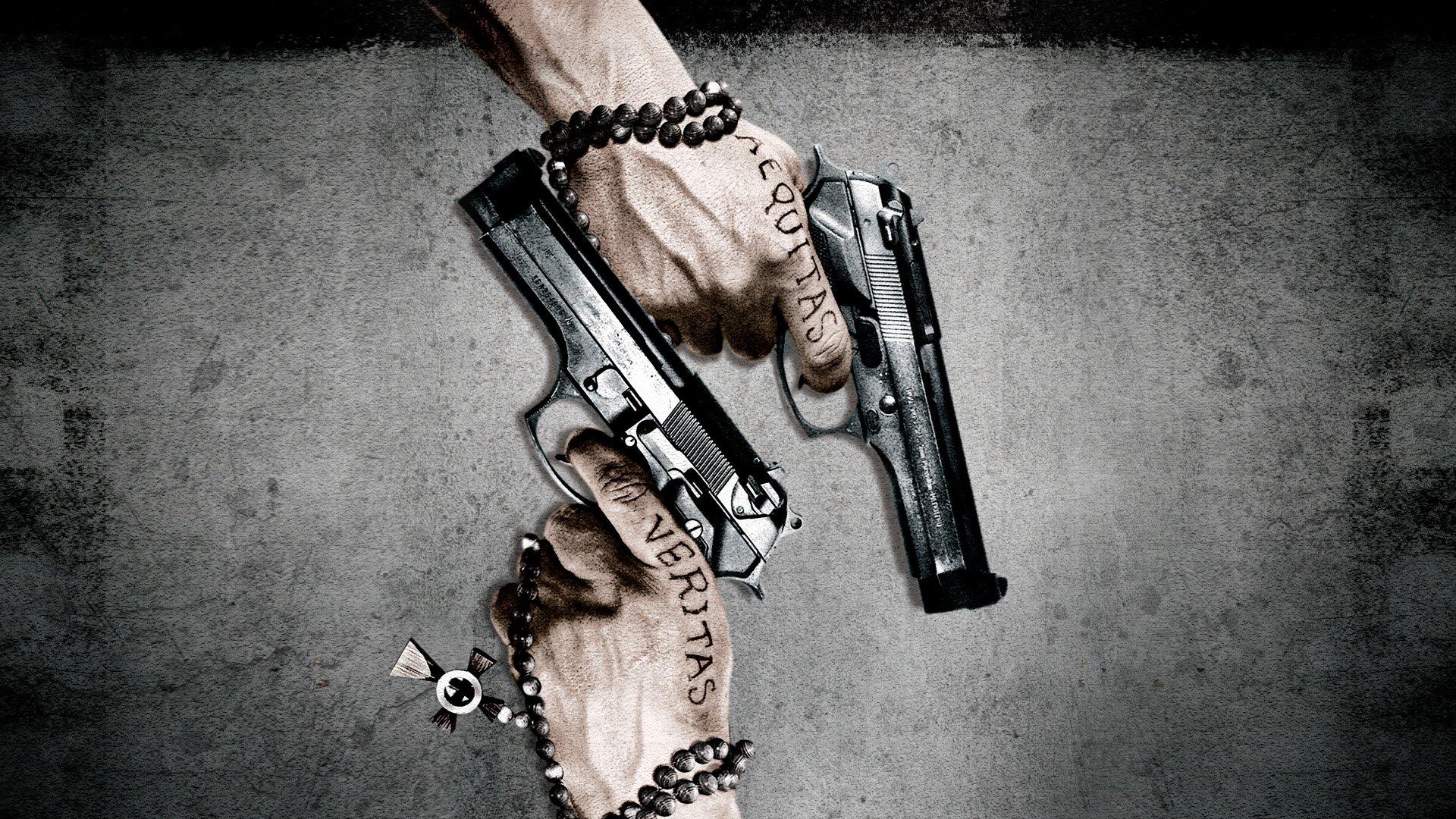 BOONDOCK SAINTS action crime thriller weapon gun pistol wallpaper 1920x1080