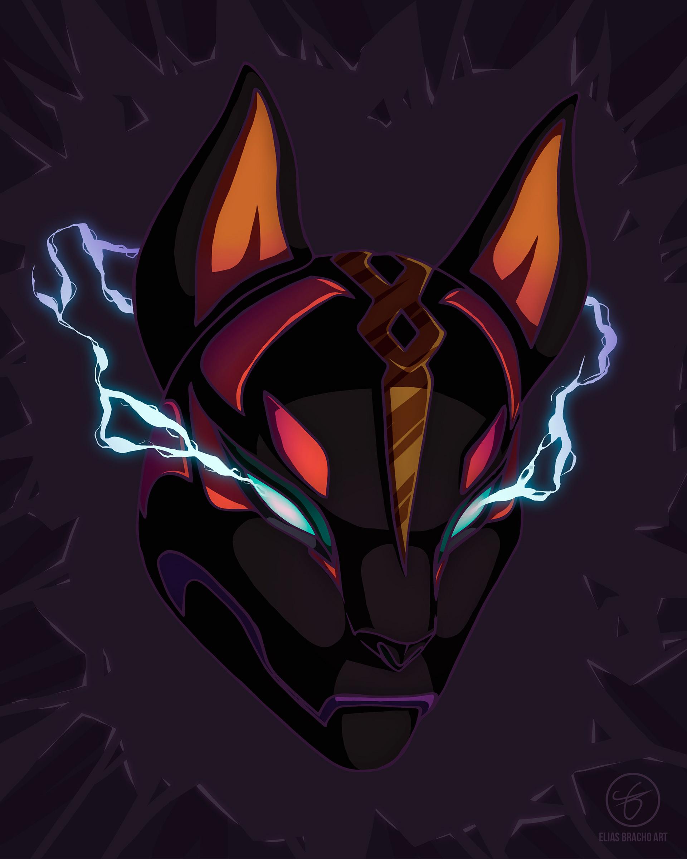 Dark Drift Mask Fortnite Wallpaper by Elas Bracho 4294 1920x2401