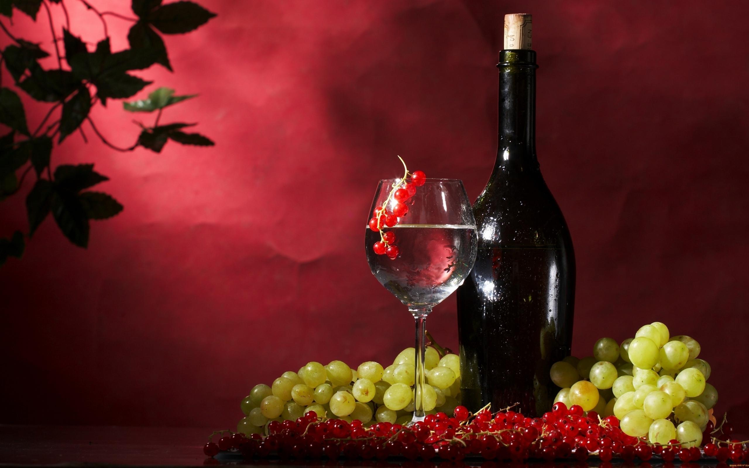 Открытки вино и цветы