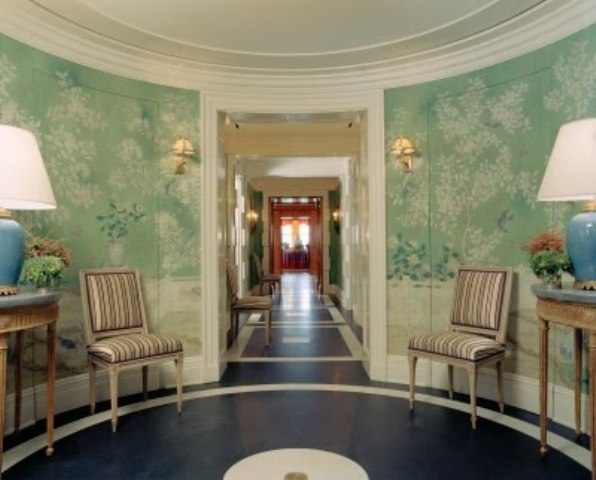 Color Outside the Lines The Foyer Wallpaper 596x480