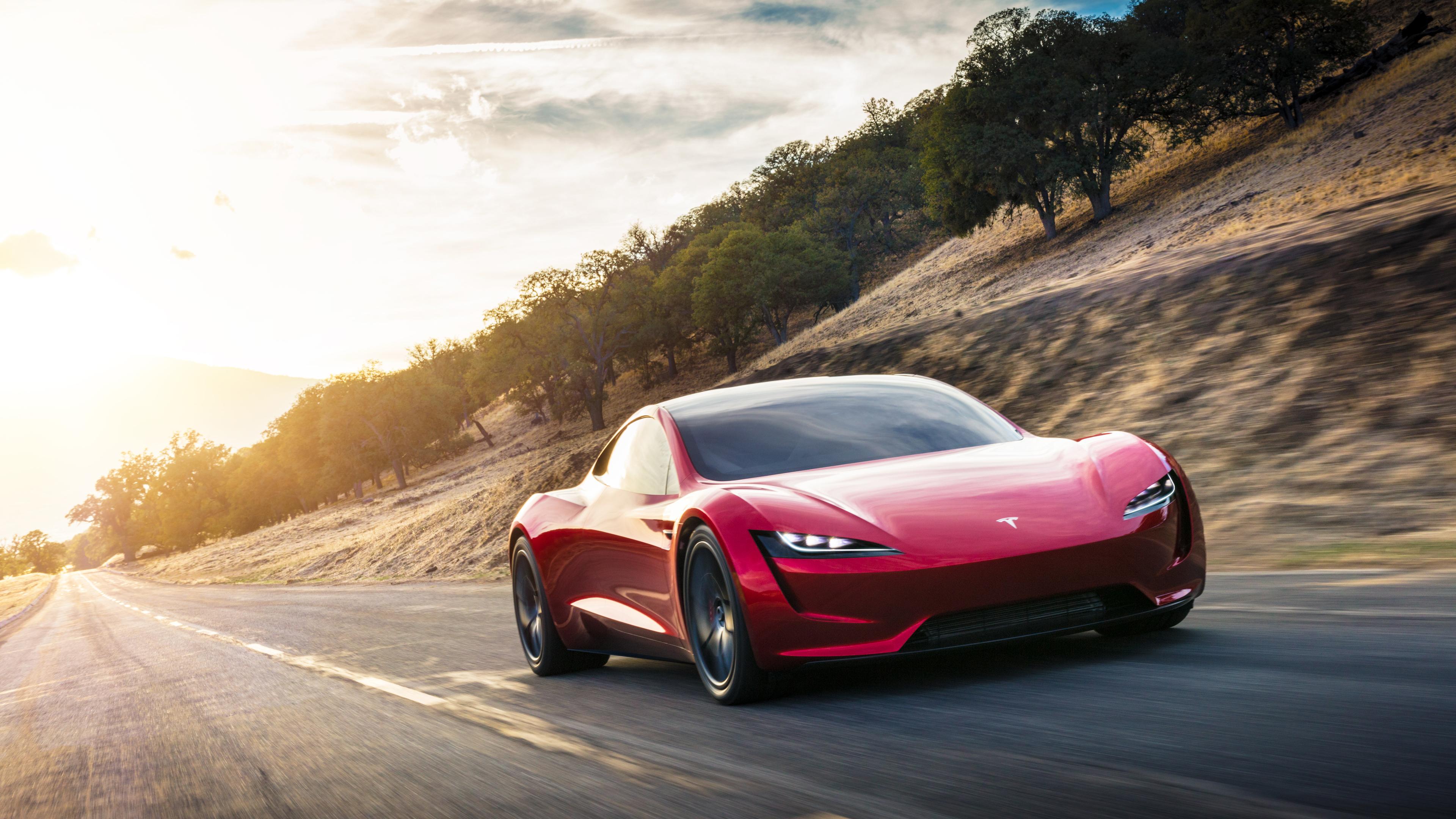 Download New Tesla Roadster Black Wallpaper For Windows 0YF 3840x2160
