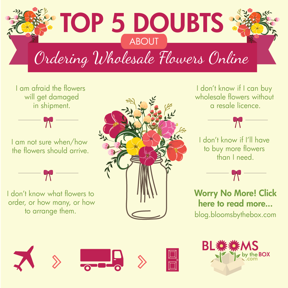 Top 5 Doubts About Ordering Wholesale Flowers Online 1000x1000
