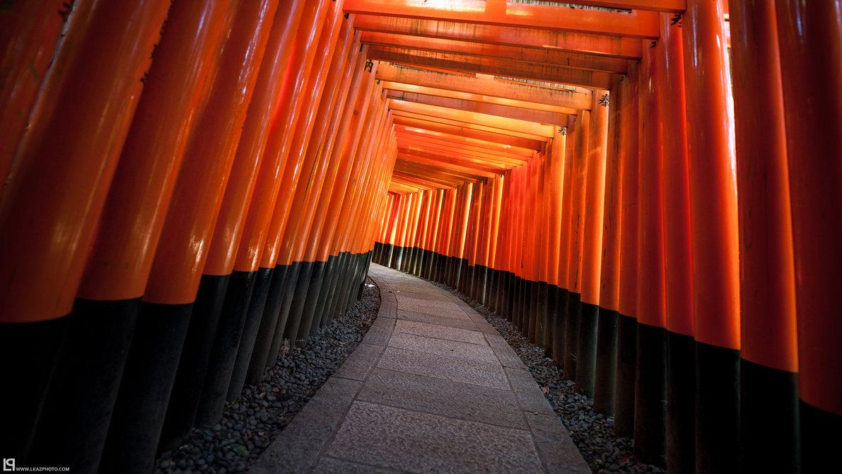 Fushimi Inari taisha by burningmonk Desktop Wallpaper 1191x670