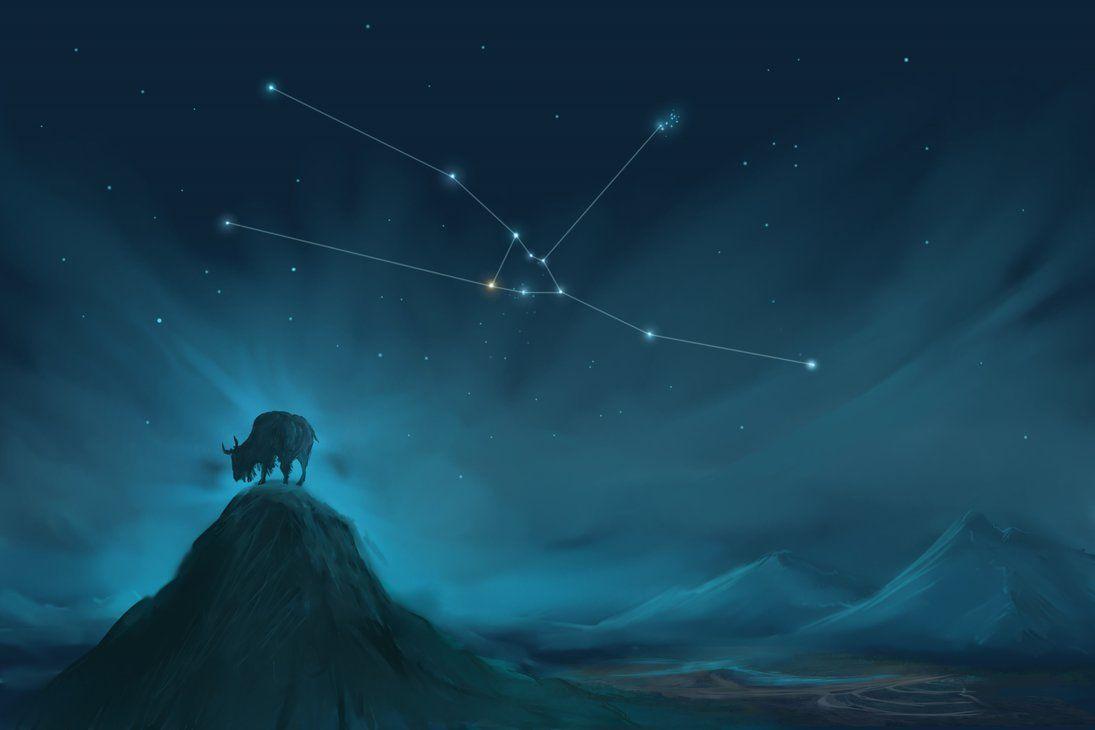 Taurus Constellation Painting Zodiac Set Taurus constellation 1095x730