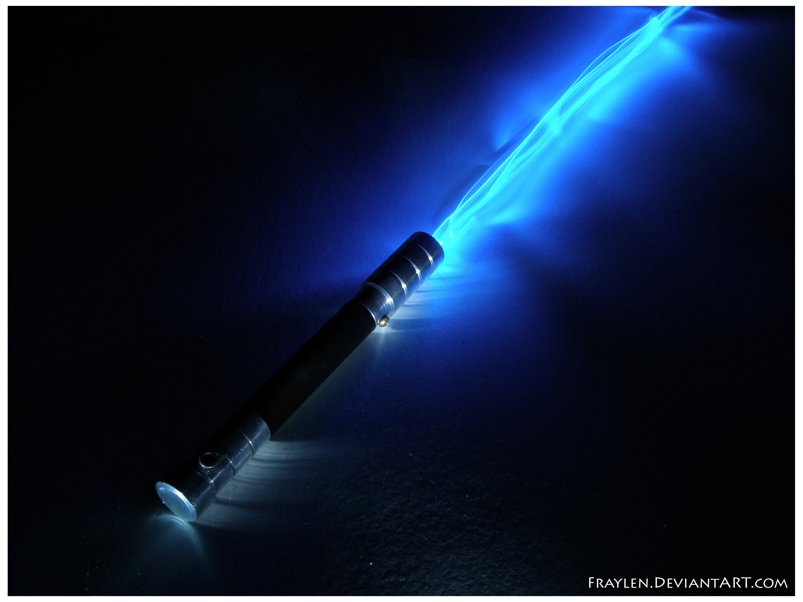 50 Blue Lightsaber Wallpaper On Wallpapersafari