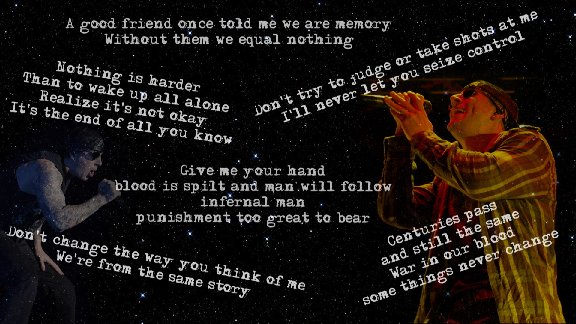 M Shadows wallpaper with lyrics by Feargm 1920x1080