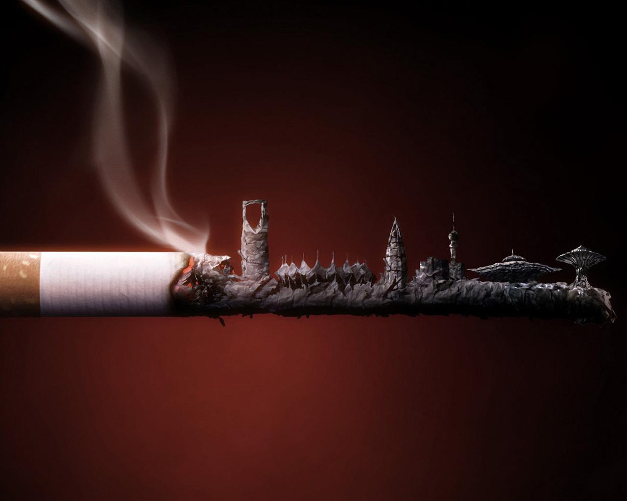 Burning Smoke 3D Wallpaper 1280x1024