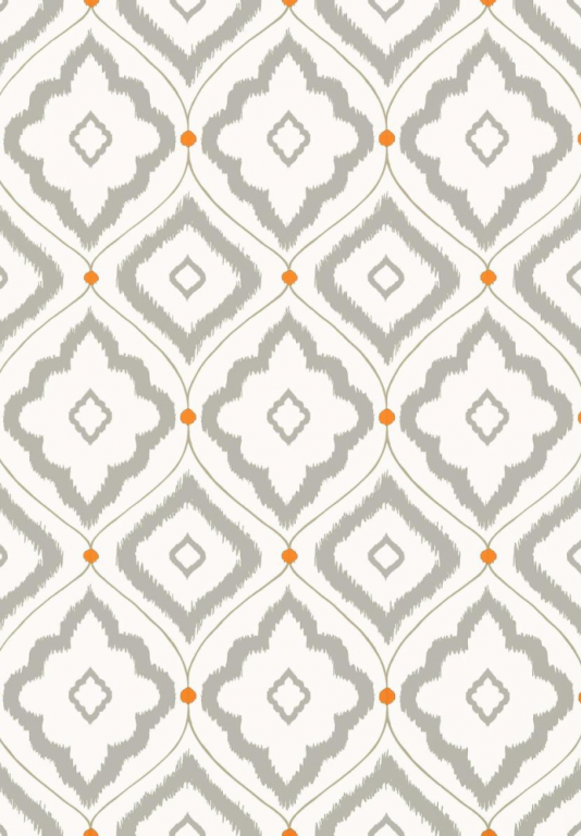 Bungalow Wallpaper A large trellis design wallpaper with rough diamond 534x768