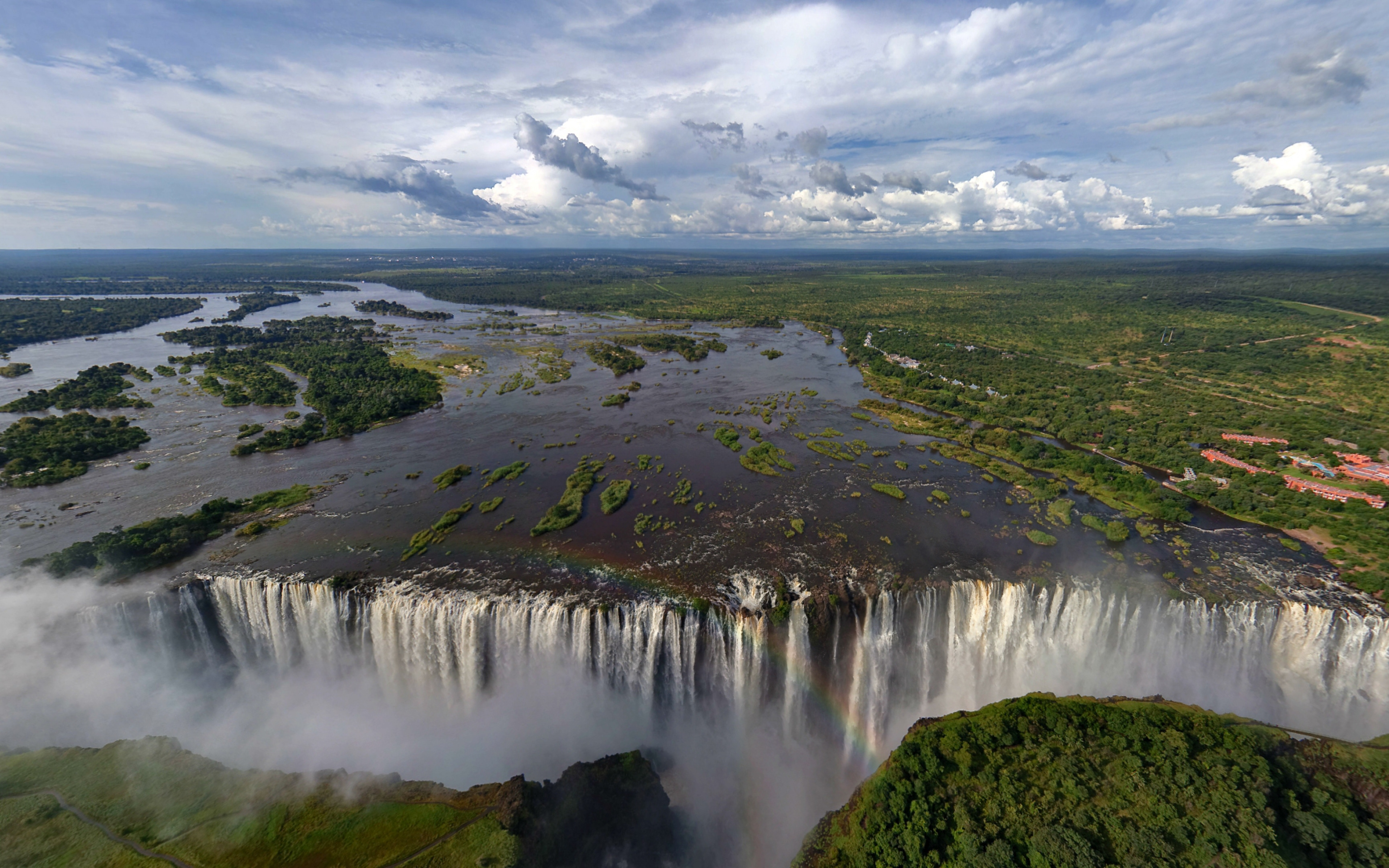 Africa Break Vegetation Rainbow Wallpaper Background Ultra HD 4K 3840x2400