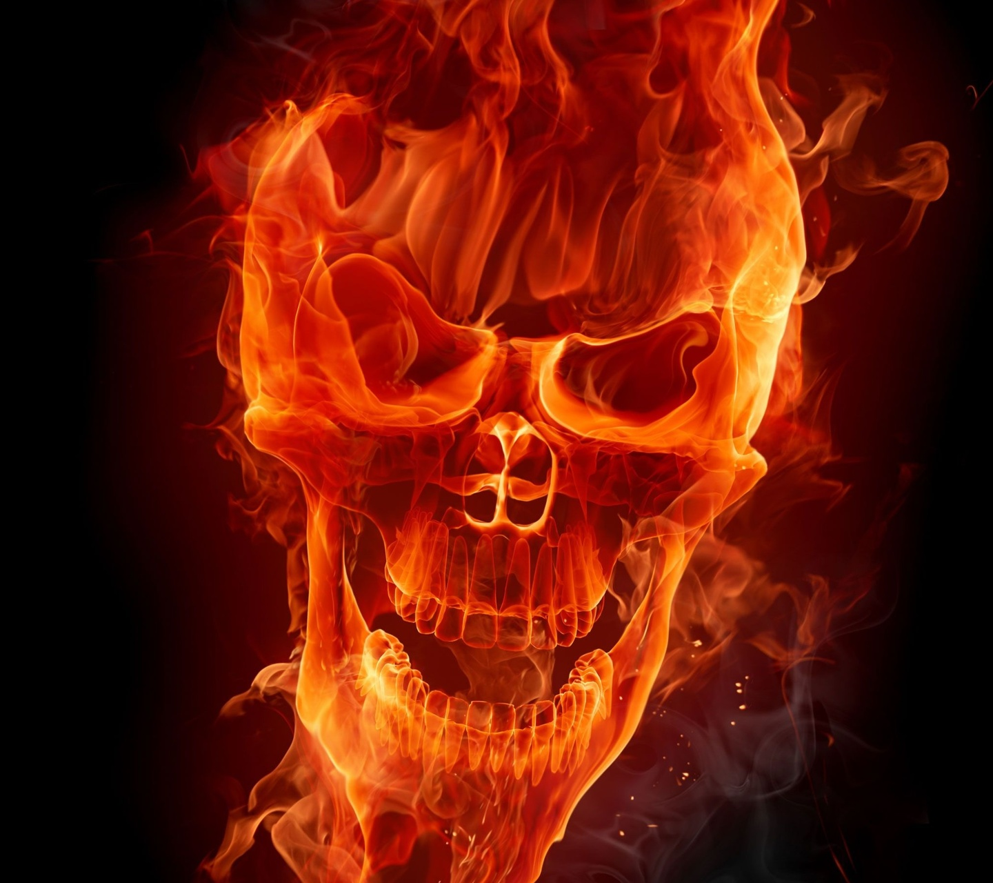 skull 1440 x 1280 Wallpapers   2897890   design skull fire flame red 1440x1280