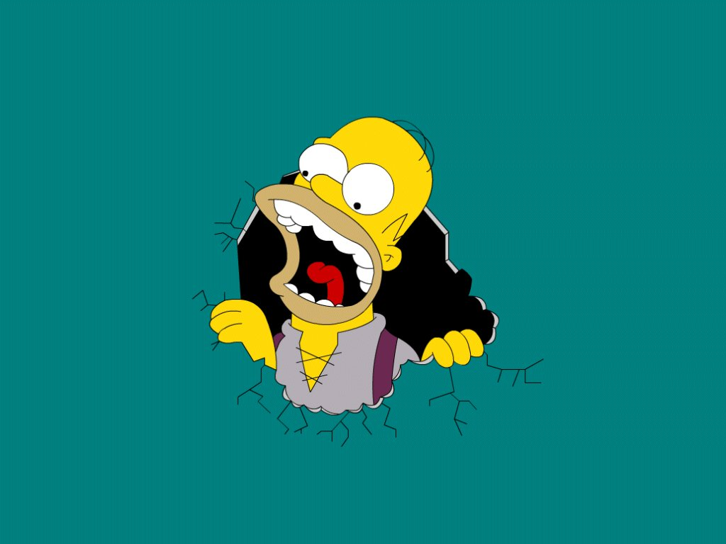 Homer Simpson 1024x768