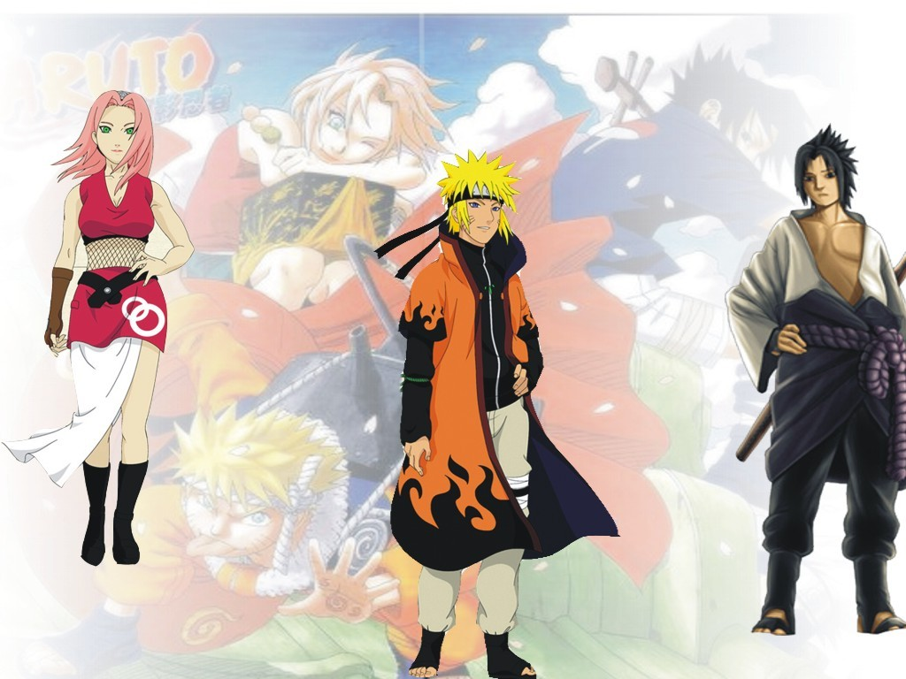 Sakura Sasuke Naruto Hokage Naruto Shippuden Wallpapers on this Naruto 1024x768