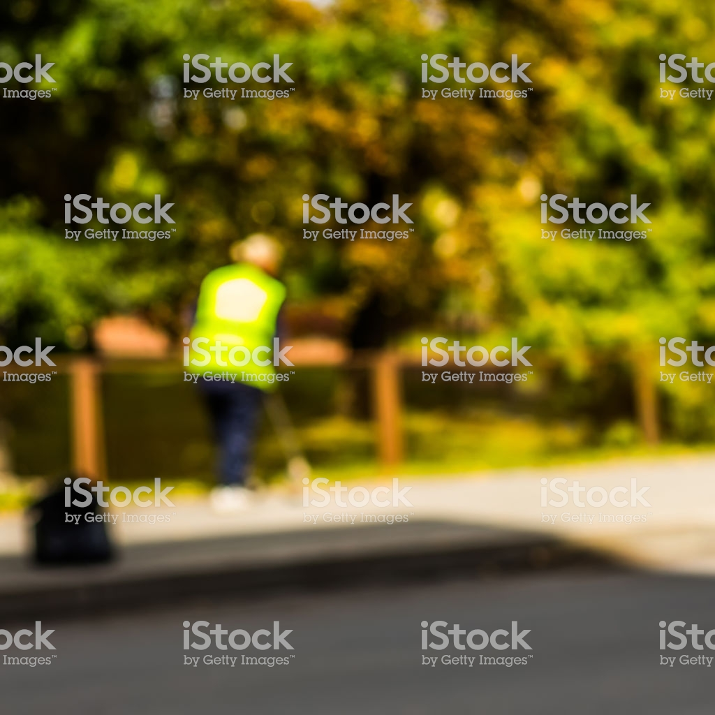 Abstract Blurred Background Road Sweeper Worker Cleaning City 1024x1024