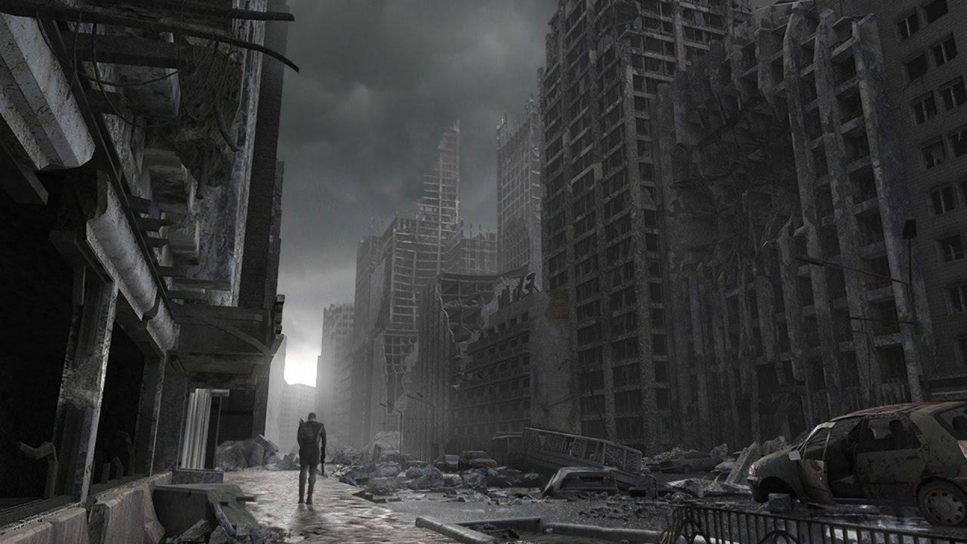 Destroyed City Zombie Background Related Keywords 1920x1080