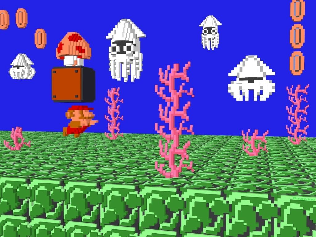 Free download TechCredo 8 bit Super Mario and retro pixels