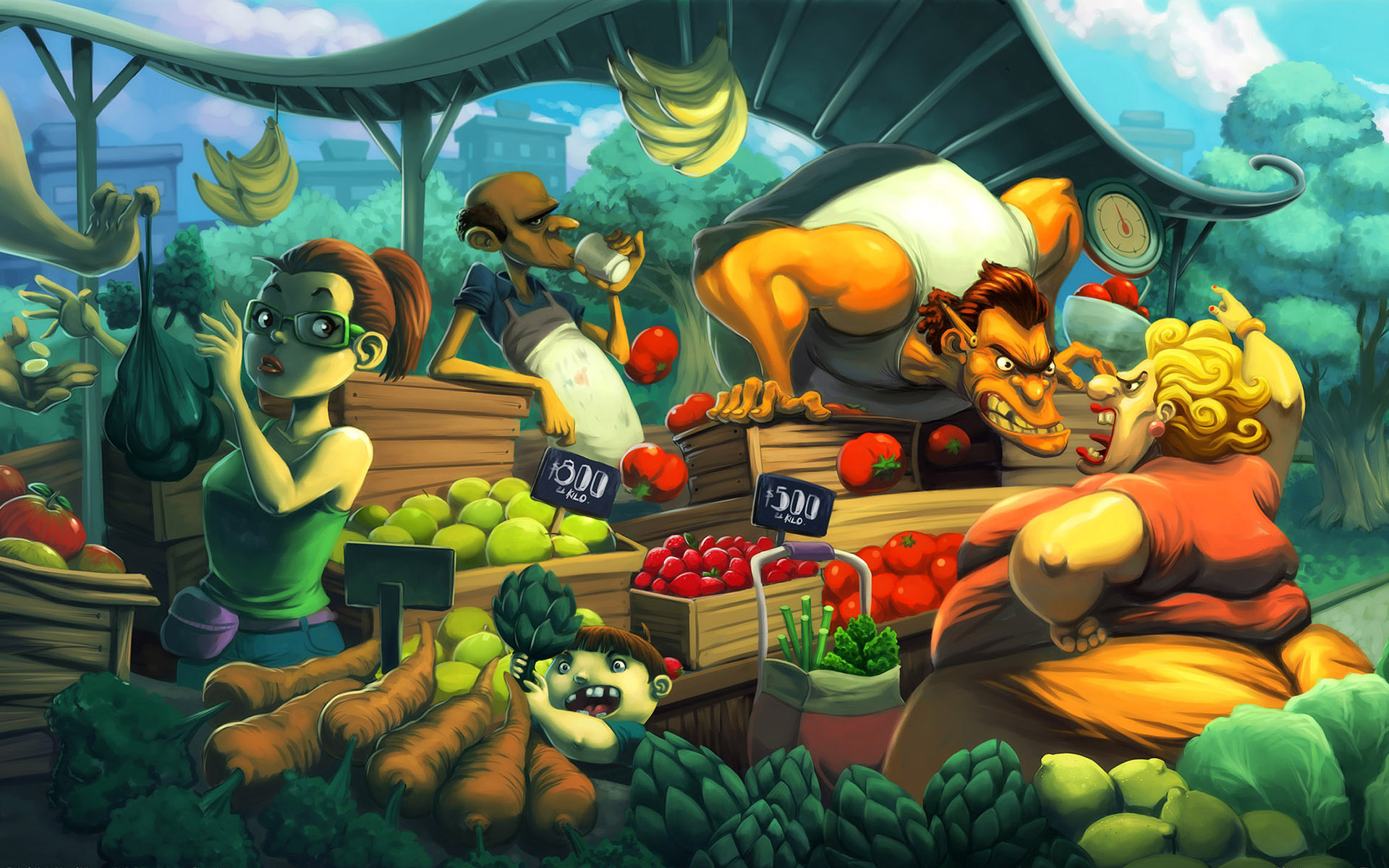 Vegetable shop wallpapers and images   wallpapers pictures photos 1920x1200