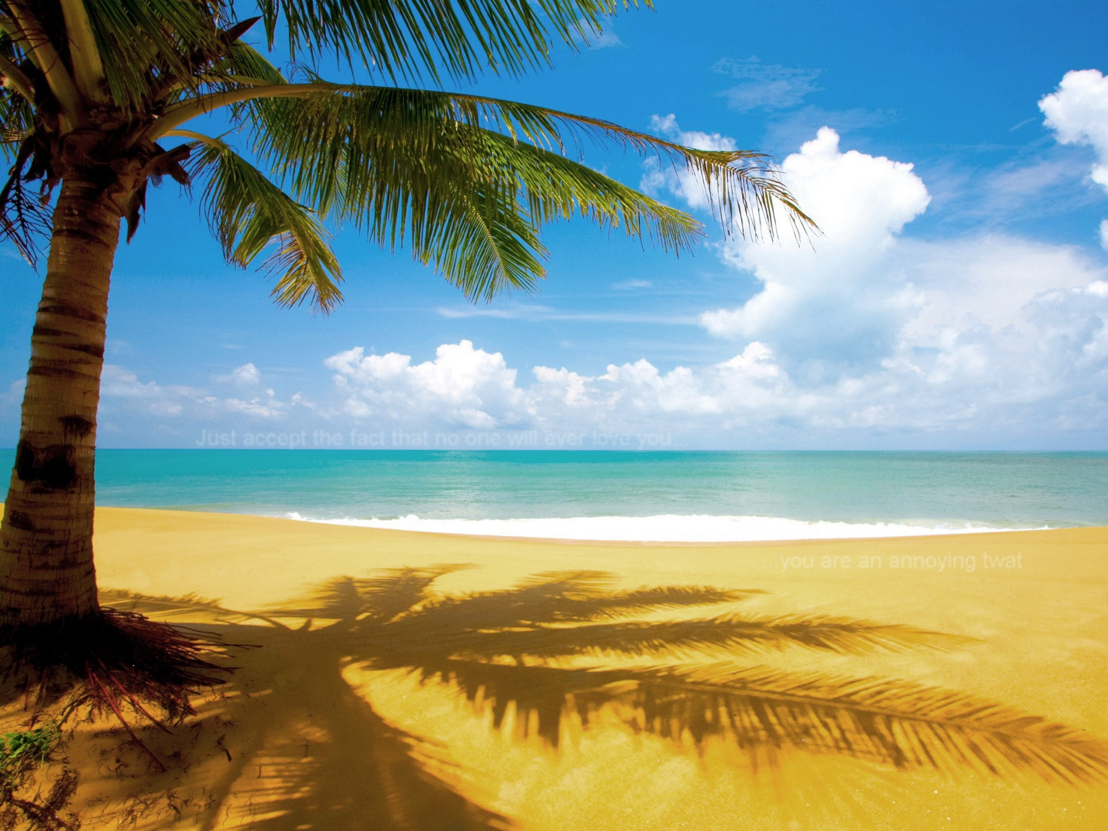 Beautiful Beach Scene [1600x1200] Offensive Wallpapers 1600x1200