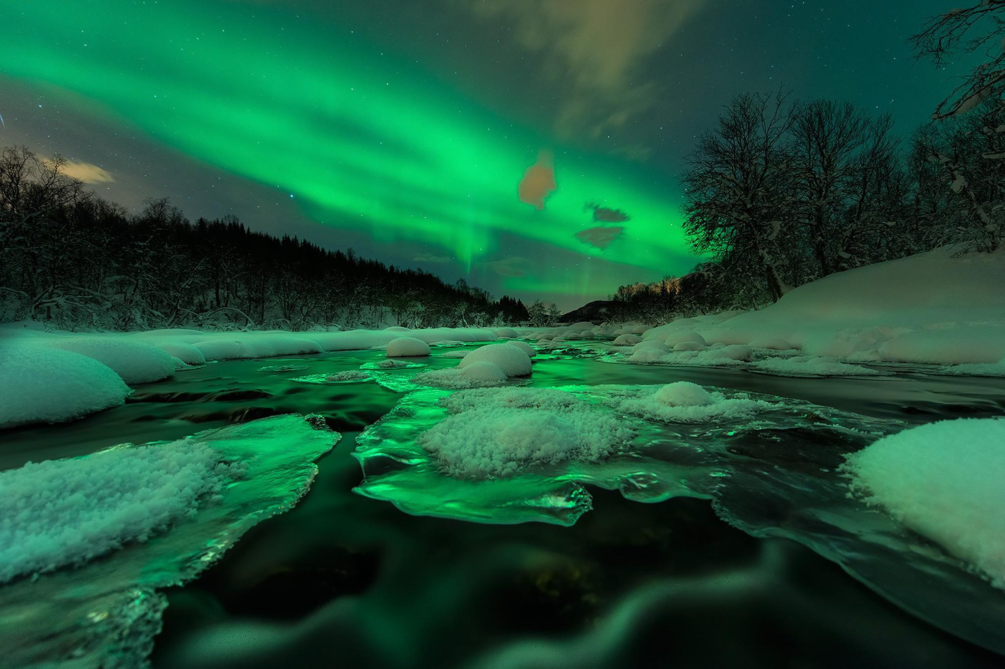 4k aurora wallpaper wallpapersafari for Sfondi desktop aurora boreale