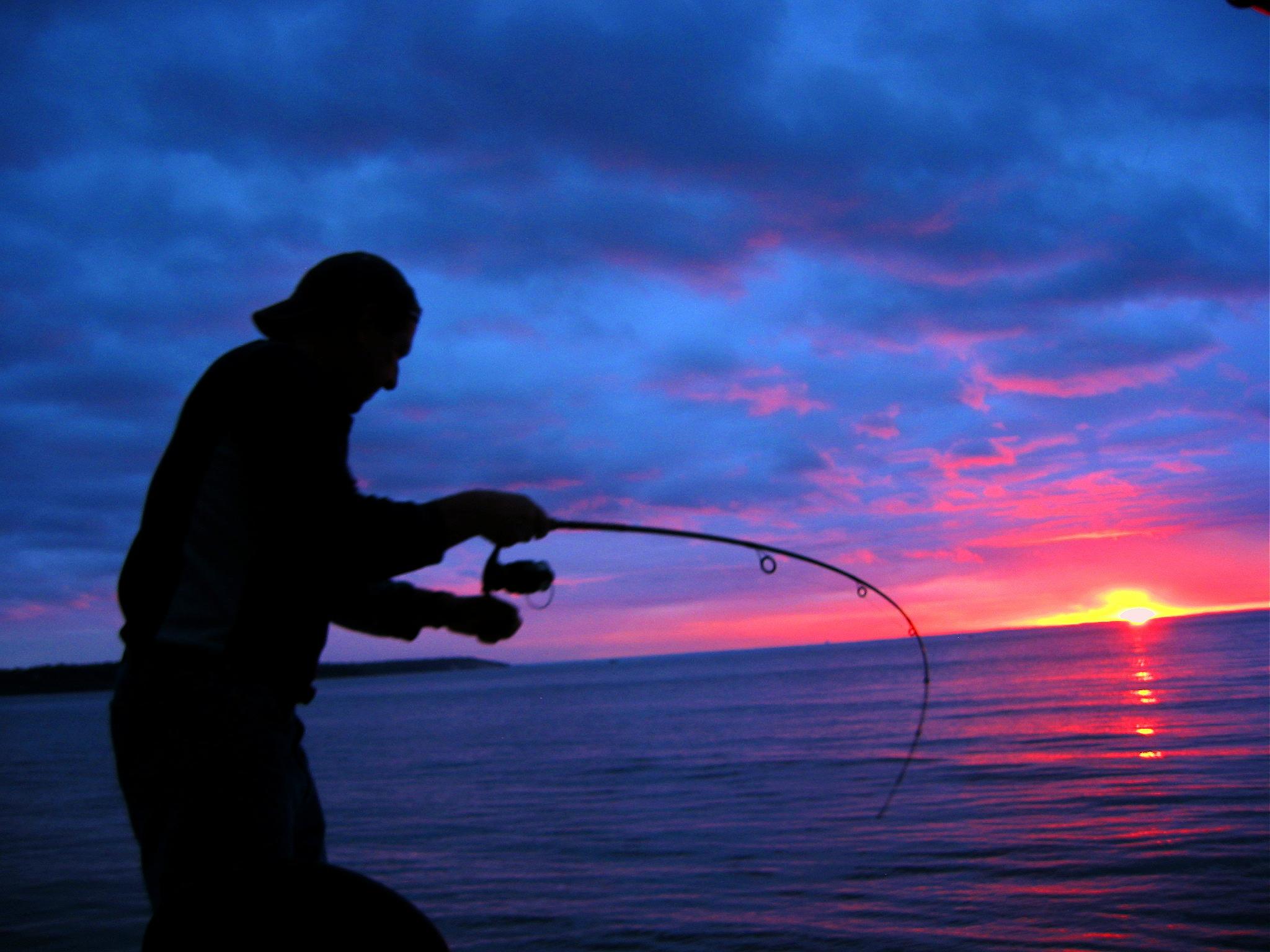 Fishing Sunset Wallpaper Bass Fishing Sunset Bass 2048x1536