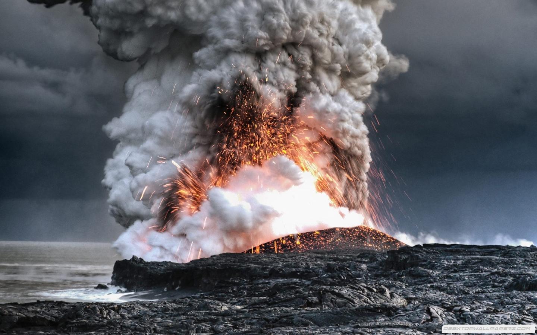 Nature Volcanoes Lava Smoke Hawaii Eruption Magma Explosion 1440900 1440x900