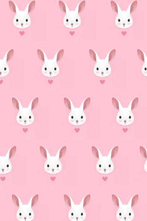 Cutie Little Dimple lovely pink bunny pattern 500x750