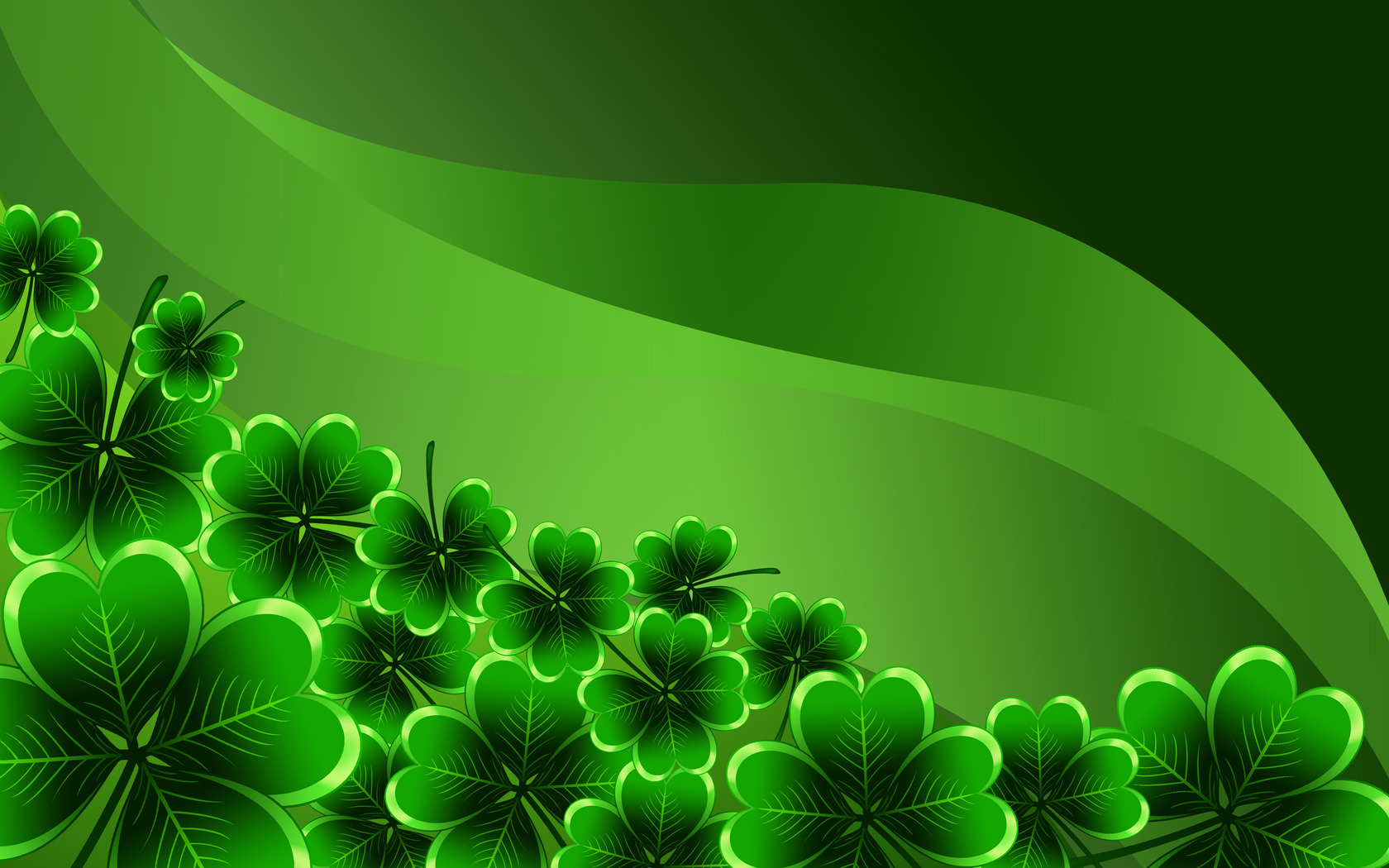 Download Shamrocks wallpaper 1680x1050
