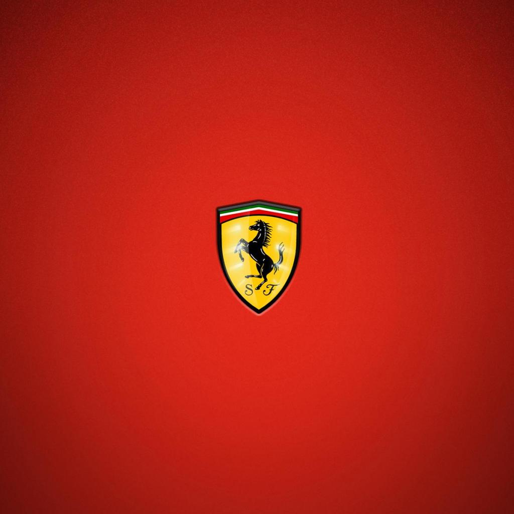 Newest iPad wallpapers Logo Wallpapers Ferrari 1024x1024