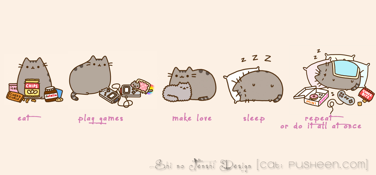 Pusheen Wallpaper Computer Pusheen facebook chronik 1288x600