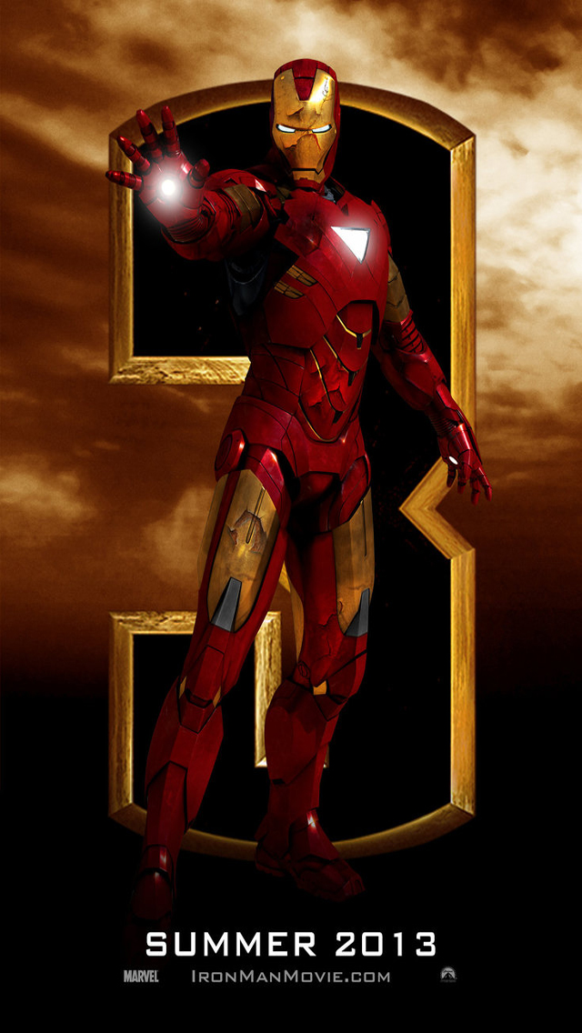 HD Wallpapers Iron Man 3 for iPhone 5 iPhone Wallpapers Site 640x1136