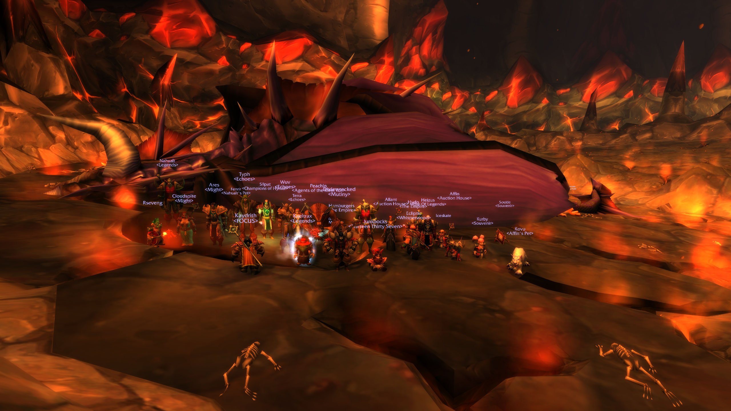 Beat Onyxia on Westfall US 24 man PUG group classicwow 2560x1440