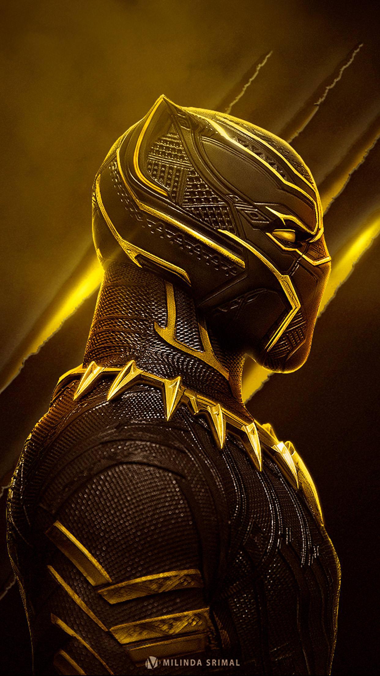 16 Black Panther Gold Wallpapers On Wallpapersafari
