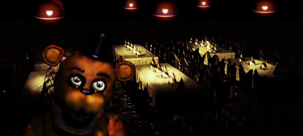Free download Fredbears Family Diner Dinning area FNAF Fanmade by