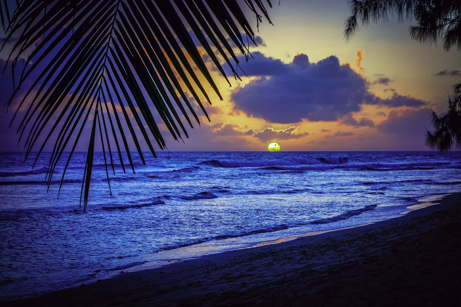 Caribbean Sunset Wallpaper Desktop - 511.3KB