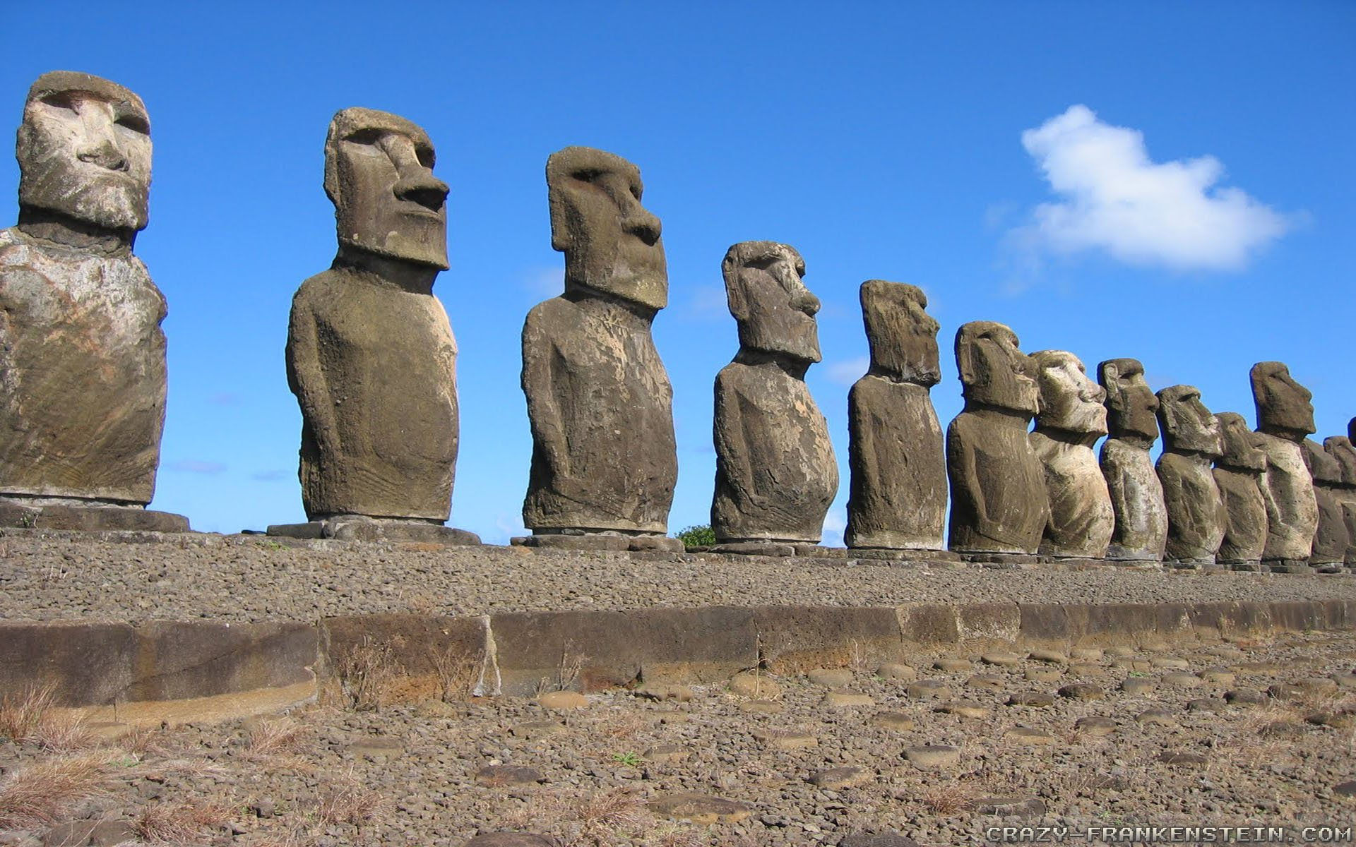 Easter Island   Moai Statues Easter Island 03   Alafoto Wallpapers 1920x1200