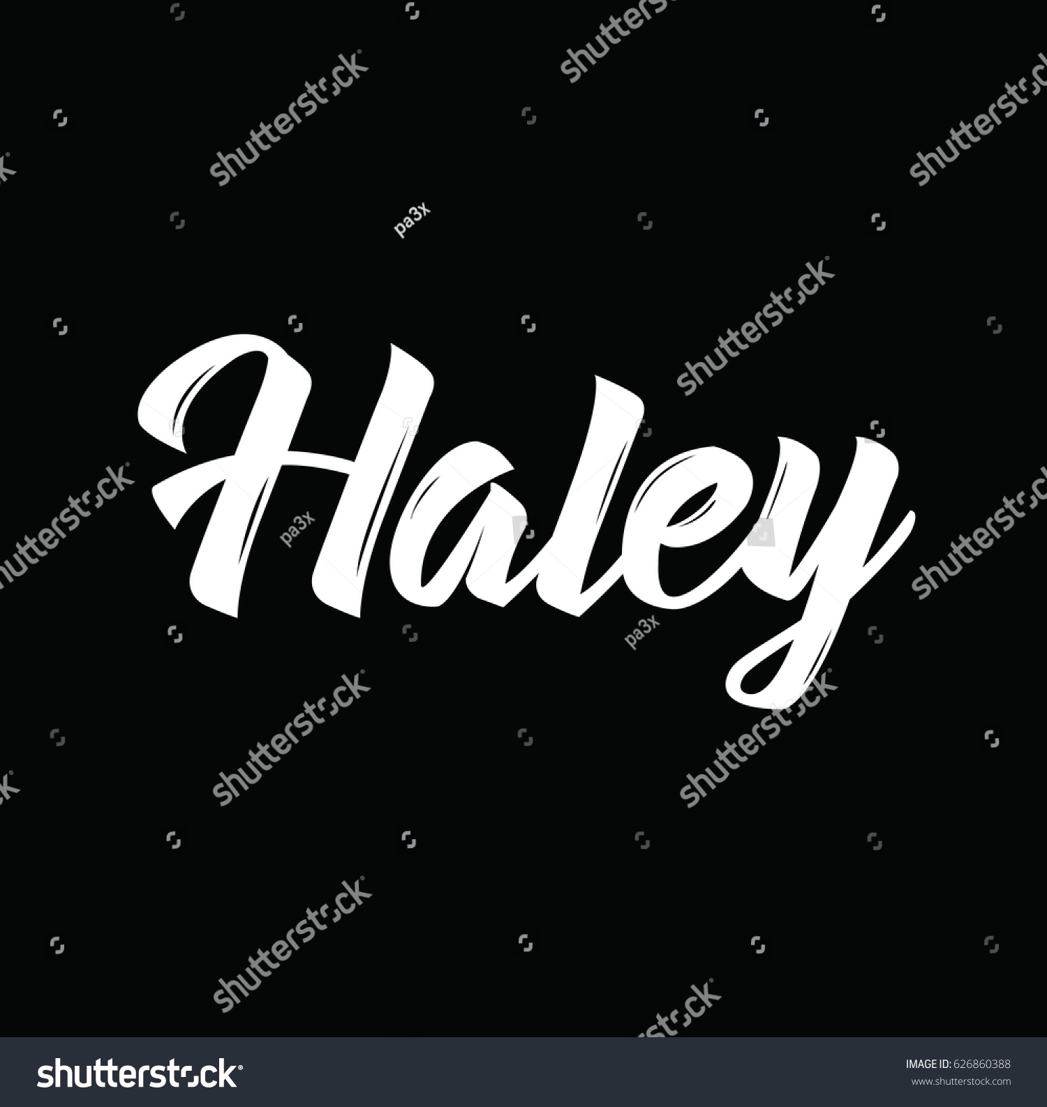 Haley Text Design Vector Calligraphy Typography Stock Vector 1500x1587
