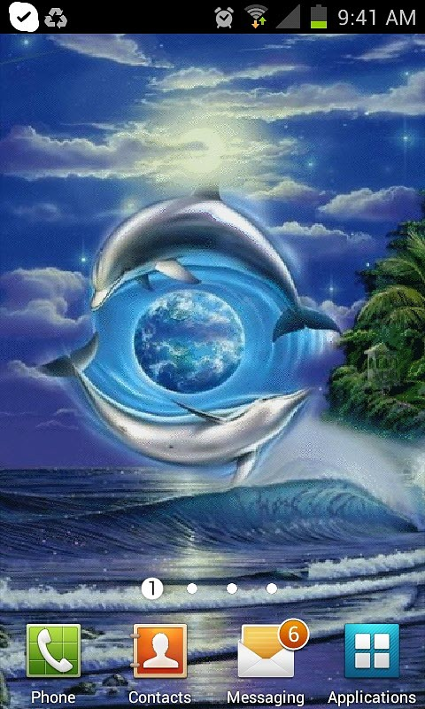 Dolphins World Live Wallpaper Android Live Wallpaper download 480x800