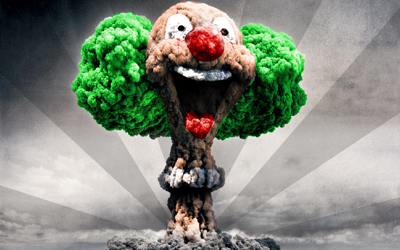Clown Nuclear Wallpaper 1280x800 Clown Nuclear Explosions 1280x800