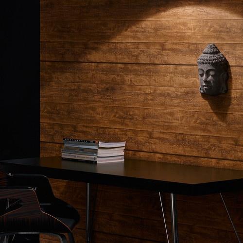 Brown Wood Faux Stripe Wallpaper Wood Wallpaper Brown tones eBay 500x500