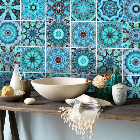 Tile Decals Vinyl Sticker WATERPROOF Tile or Wallpaper for Kitchen 550x550